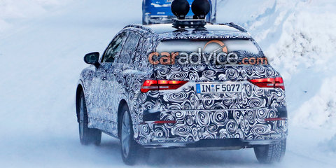 2019 Audi Q3 spied testing in the snow