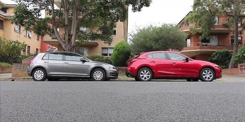 Mazda 3 Neo v Volkswagen Golf 90TSI Video Comparison Review