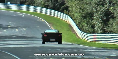 2013 Hyundai Genesis Facelift spy video