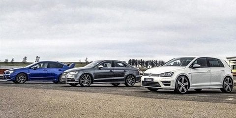Audi S3 v Subaru WRX STI v Volkswagen Golf R: $60K all-wheel-drive shoot-out
