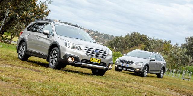 Skoda Octavia Scout 135TDI v Subaru Outback 2.0D Premium : Comparison Review