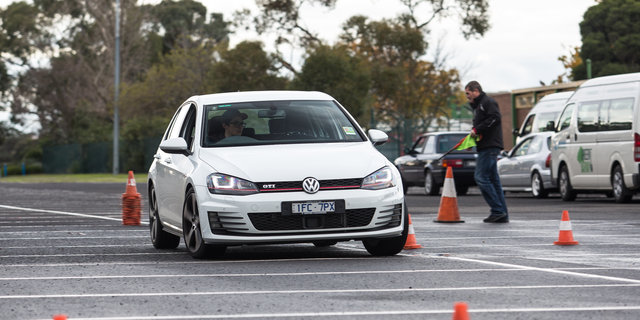 Driver training in the 2016 Volkswagen Golf GTI