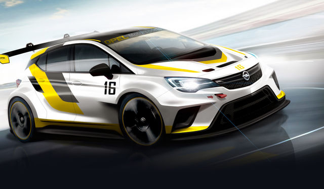 New Opel Astra TCR getting ready to race
