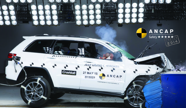 Jeep Grand Cherokee five-star ANCAP rated