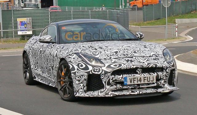 Jaguar F-Type SVR coupe spy photos