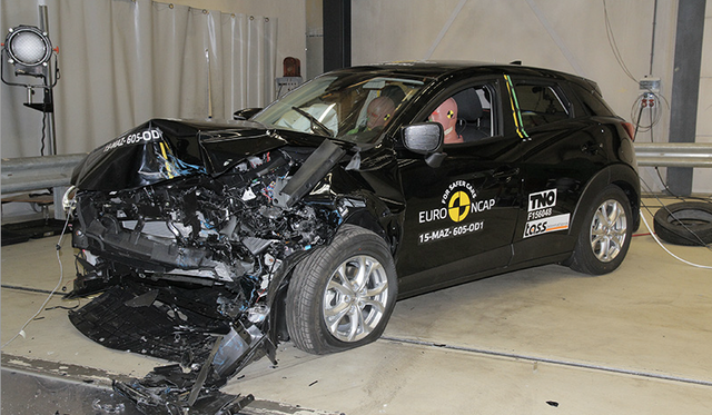 Mazda CX-3 four-star Euro NCAP crash test shock