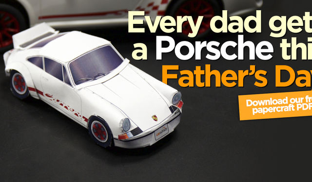 Father's Day 2015: Porsche 911 Carrera RS 2.7 papercraft model