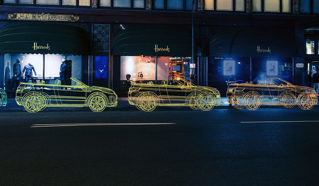 Range Rover Evoque Convertible teasers kick off with wireframe sculptures
