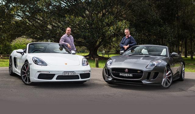 2016 Porsche Boxster S v Jaguar F-Type V6 S comparison