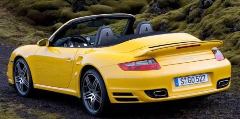 2008 Porsche 911 Turbo Cabriolet Rear