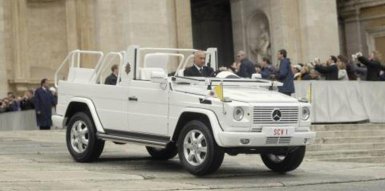 The all-new Popemobile