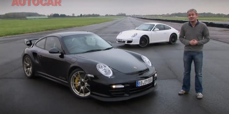 video porsche 911 gt2 rs vs porsche 911 carrera s comparison. Black Bedroom Furniture Sets. Home Design Ideas
