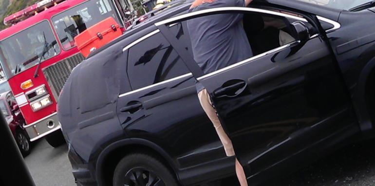 2012 honda cr v test car crash spy shots for Honda crv crash test
