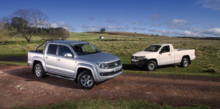 volkswagen amarok: 8-speed auto and single-cab join ute range