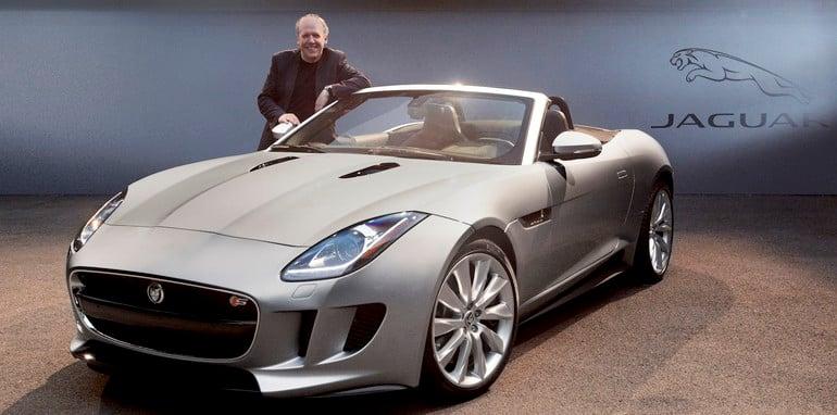 Ian Callum with Jaguar F-Type