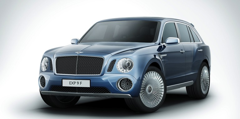 Bentley EXP 9F front side