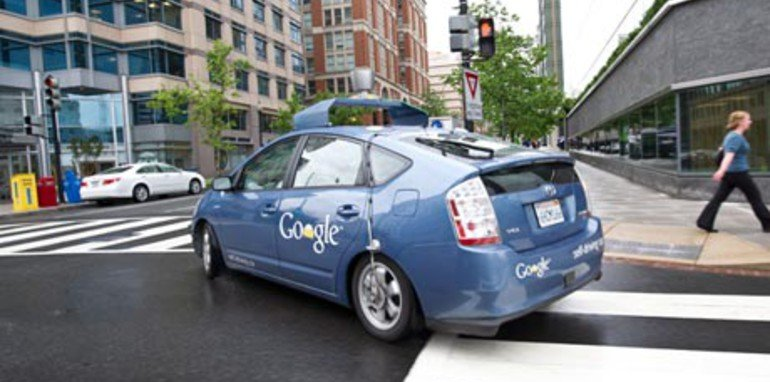 The Google self-driving car turns a corner
