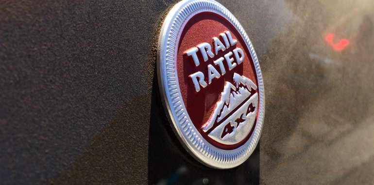 Jeep Cherokee Trailhawk Trail Rated badge