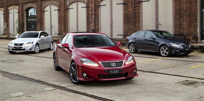 Lexus IS 350 range - (l to r) Prestige, F Sport, Sports Luxury
