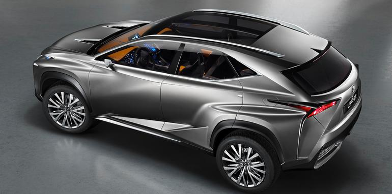 Lexus LF-NX concept above side