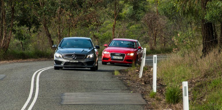 Audi A3 sedan v Mercedes-Benz CLA-Class-14