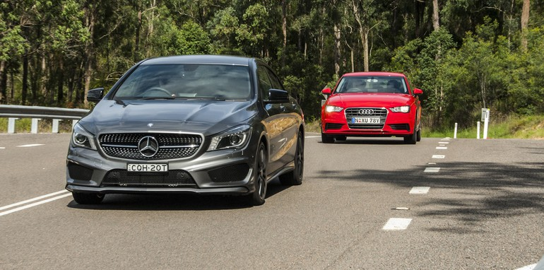 Audi A3 sedan v Mercedes-Benz CLA-Class-8
