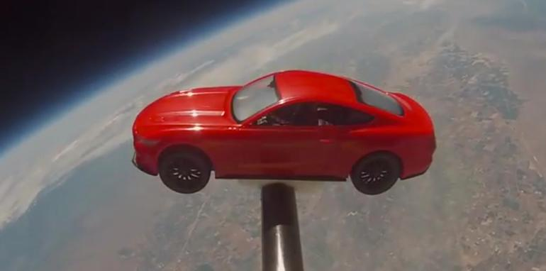Ford Mustang in space