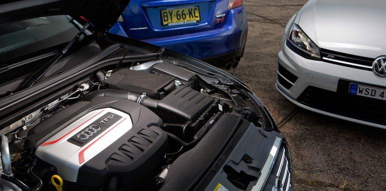 Subaru WRX STI Audi S3 Volkswagen Golf R-28