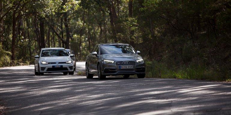 Subaru WRX STI Audi S3 Volkswagen Golf R-3