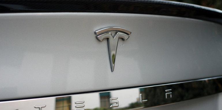 Tesla Model S trunk badge