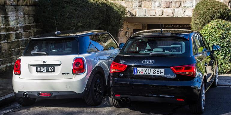 Mini v Audi A1-6