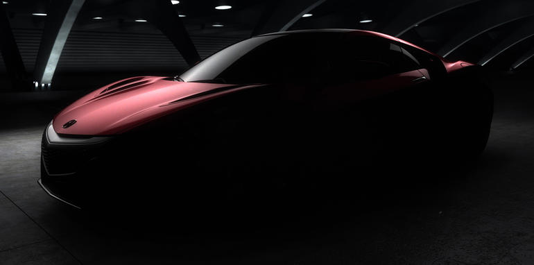 Acura NSX Production Model Teaser Image