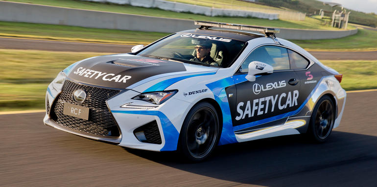 2015 V8 Supercars' official safety car the Lexus RC F