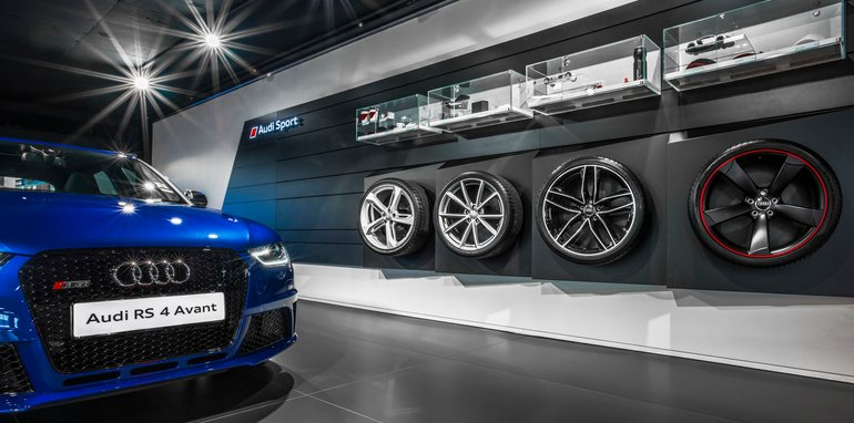 AUDI SPORT SHOWROOM - Image by On Point - www.onpoint.photo