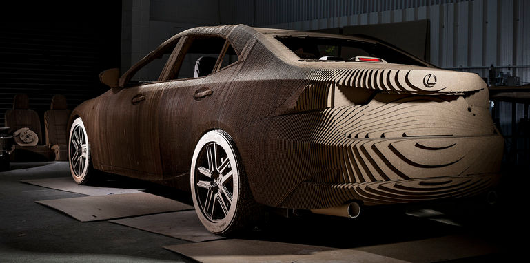 lexus-is-origami-cardboard-rear