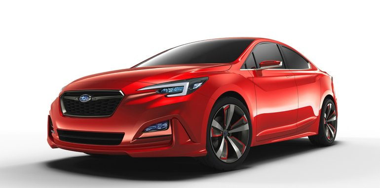 Subaru Impreza concept unveiled at the 2015 Los Angeles Auto Show.