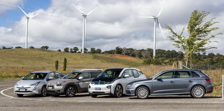Eco-Test Country loop - Audi A3 e-tron v BMW i3 v Citroen C4 Cactus v Toyota Prius-42