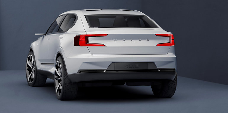 2018 volvo xc40 previewed alongside jacked up v40 2 concept. Black Bedroom Furniture Sets. Home Design Ideas