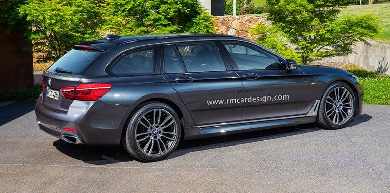 2017 bmw 5 series sedan and touring wagon rendered. Black Bedroom Furniture Sets. Home Design Ideas