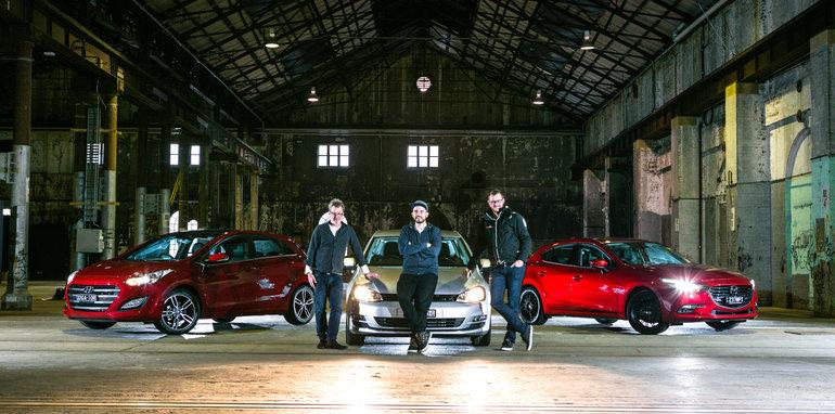 2016 Small Hatch Comparison Mazda 3 SP25 Astina V Volkswagen Golf 110TSI Highline V Hyundai i30 SR Premium-117