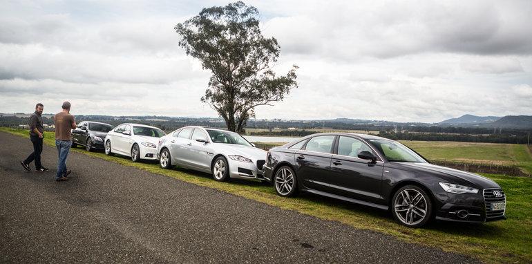 luxury sedan comparison part two: audi a6 v bmw 5 series v jaguar