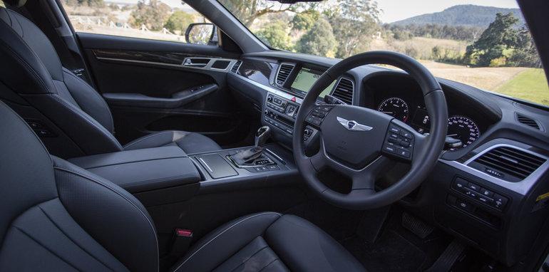 2016 Luxury sedan comparison Hyundai Genesis Ultimate v Jaguar XF 20d Prestige v Infiniti Q70 GT v Lexus GS200t F Sport v Skoda Superb sedan 206TSI-148