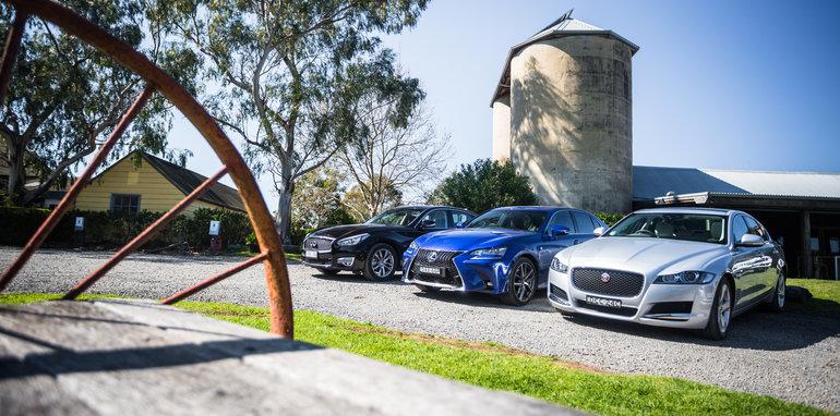 2016 Luxury sedan comparison Hyundai Genesis Ultimate v Jaguar XF 20d Prestige v Infiniti Q70 GT v Lexus GS200t F Sport v Skoda Superb sedan 206TSI-43