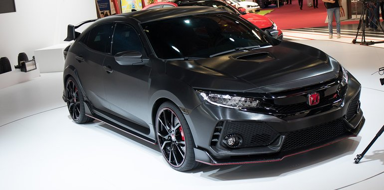 2017 honda civic type r previewed in paris. Black Bedroom Furniture Sets. Home Design Ideas