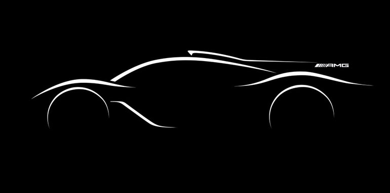 Mercedes-AMG hyper car Designskizze ; Mercedes-AMG hyper car design sketch;