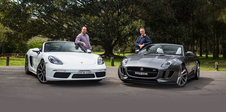 Model 2016 Porsche Boxster S V Jaguar FType V6 S Comparison