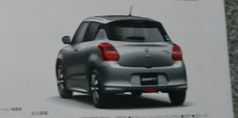 Rò rỉ 2017 thiết kế Suzuki Swift qua cuốn brochure