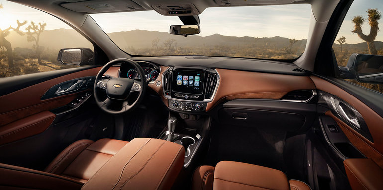 The 2018 Traverse High Country trim features premium content and
