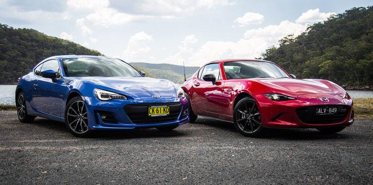 Mazda mx 5 rf v subaru brz comparison 2017 mazda mx 5 rf v 2017 subaru sciox Gallery
