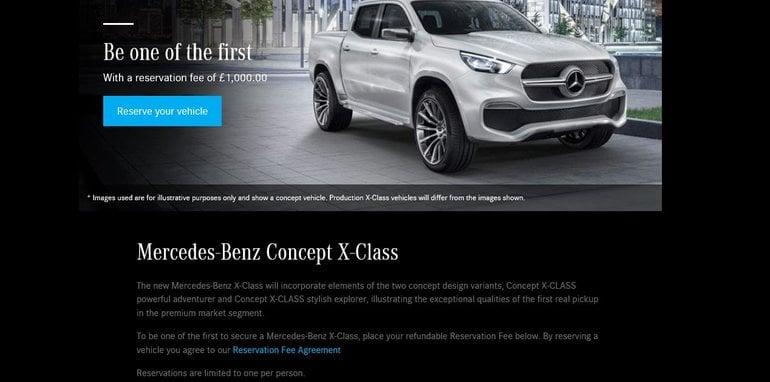 2018 mercedes benz vans x class ute. beautiful benz mercedesbenzxclassutereservationpage u201c in 2018 mercedes benz vans x class ute